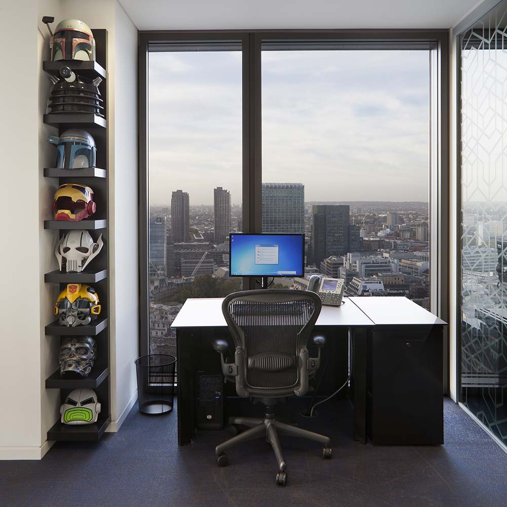 Heron Tower Masks and Desk