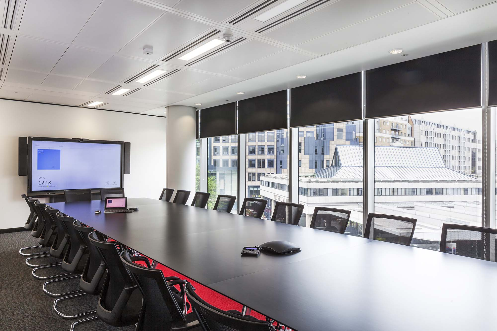 1 London Wall board room