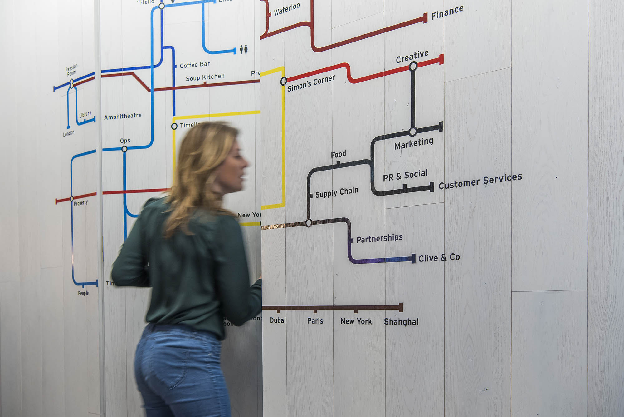 pret a manger office tube map