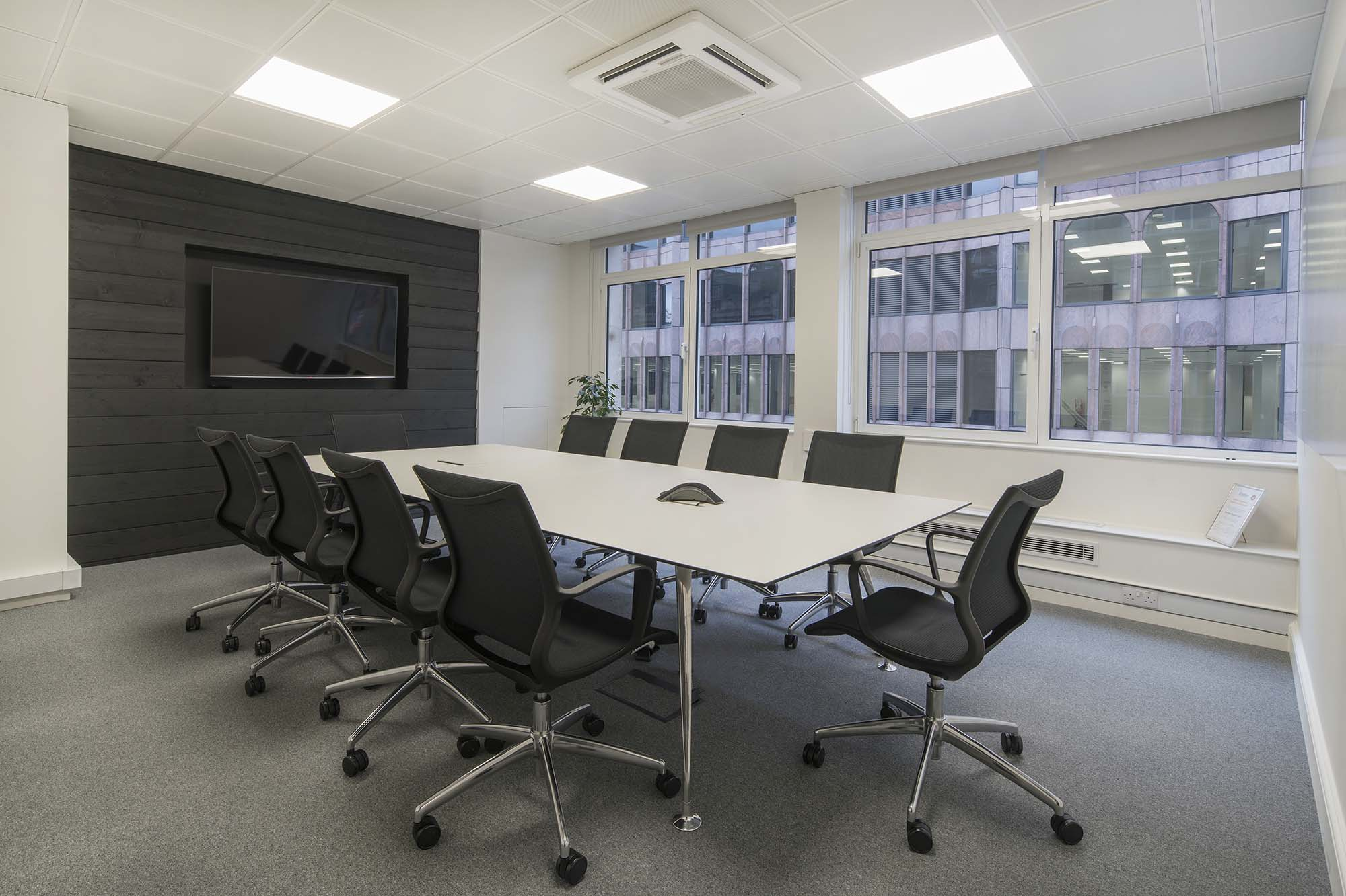 Boardroom with panel detail