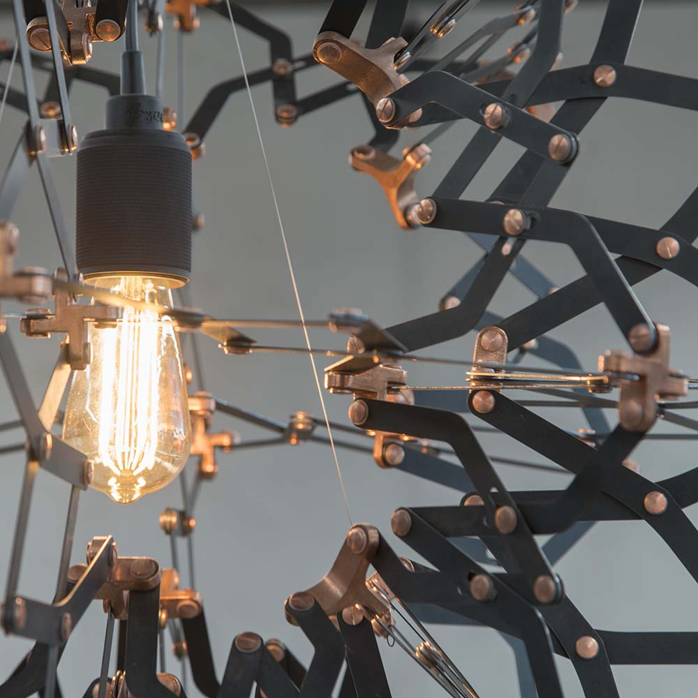 XTX Hoberman chandelier