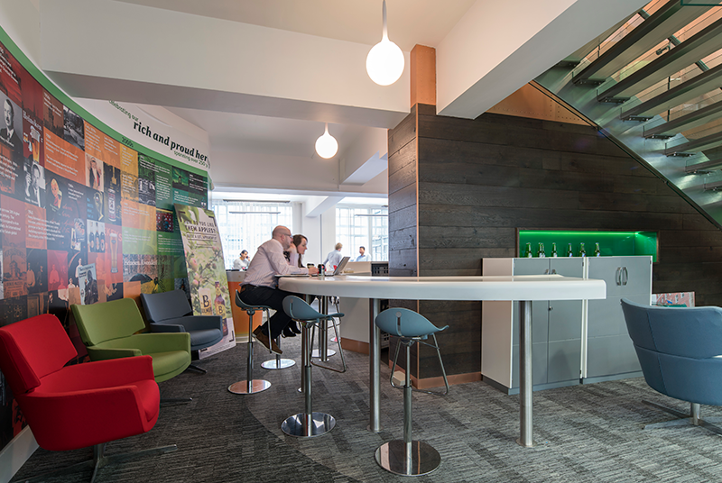 Heineken smart working communal design