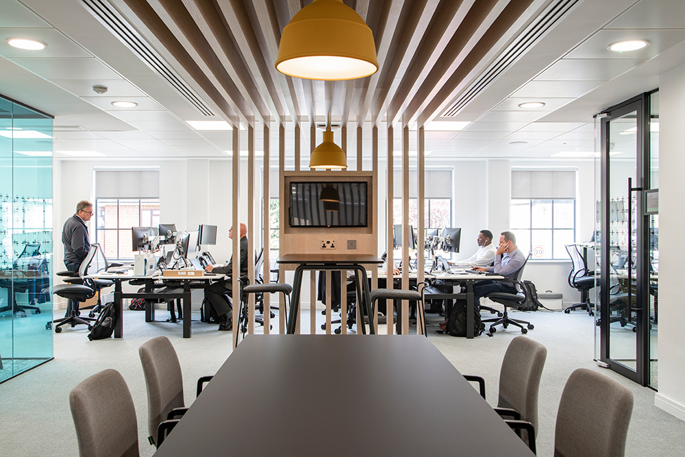 desking and collaboration spine