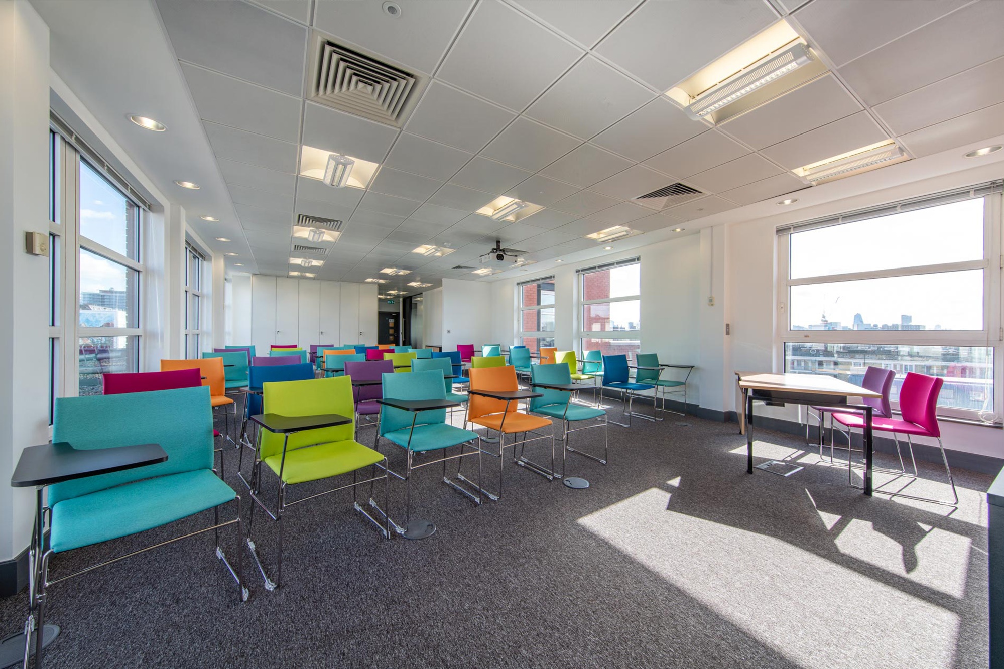 office interior design; cambridge spark; seminar; conference